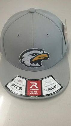 847201696 Liberty North Eagles Gray Stretch Fit PTS20 Eagle Head Logo Hat by Ric – MO  Sports Authentics