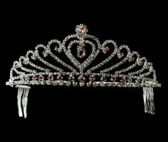 Bridal Wedding Headpiece Silver Pink Melissa Kay Collection. $66.25. Lead Free Alloy. silver plated. Rhinestone