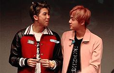 Winking at each other, and blowing lil kisses #Namjin #Cutiepies