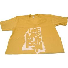 New Mustard Colored Love Mississippi Tee at www.MSGifts.com/love-mississippi-tee-mustard.aspx