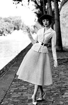 Vintage Fashion Miao Bin Si in Dior FW'12 Couture for Harper's Bazaar