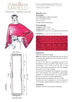 Der Neuen : Poncho Morbidoso We Openen H Kleur - Diy Crafts Knitting Patterns, Sewing Patterns, Crochet Patterns, Loom Knitting, Baby Knitting, Crochet Clothes, Diy Clothes, Filet Crochet, Knit Crochet