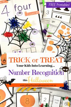 TRICK your kids into LOVING Math with our spooky Halloween Printable Number Games For Teaching Number Recognition. These Halloween printables make Learning & Teaching Number Recognition a real TREAT! Grab a FREEBIE From our website Halloween Math, Halloween Activities, Halloween Printable, Halloween Week, Family Halloween, Halloween Ideas, Printable Activities For Kids, Kindergarten Activities, Monster Activities
