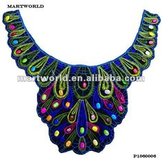 hand embroidery patterns for neck blouses - Google Search