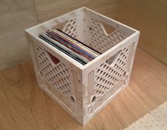 LP Vinyl 12 Record Storage Crate/Box Stackable by CraftyandCoUK