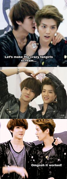 exo luhan sehun #hunhan.. That first pic made me scream too XD