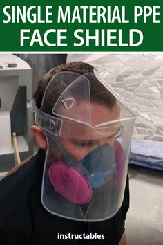 Single Material PPE Face Shield -No Elastic Needed #Instructables #workshop #health #safety Mouth Mask Fashion, Shield Design, Metal Working Tools, Laser Cut Acrylic, Homemade Tools, Medical Information, Diy Mask, Mask Design, Projects To Try