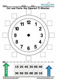 Learn to Tell the Time Clock - Teaching Clock - Free printable PDF Clock Worksheets, Preschool Worksheets, 1st Grade Worksheets, Preschool Activities, Learning Time Clock, Tell The Time Clock, Clock For Kids, Make A Clock, Second Grade Math