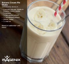 The Isagenix cleanse is a great way to lose weight and you can make very yummy shake recipes Protein Shake Recipes, Smoothie Recipes, Snack Recipes, Protein Shakes, Protein Smoothies, Fruit Smoothies, Arbonne Shake Recipes, Whey Recipes, Milkshake Recipes