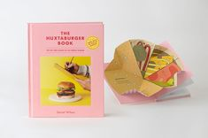 The Huxtaburger Book · Design by A Friend of Mine Design Studio · Illustration by Cassie Brock · Cookbook Photography by Chris Middleton · Styling by Deb Kaloper · Publishing by Mark Campbell and Hannah Koelmeyer at Hardie Grant Publishing · Folio photography by Sarah Anderson Photography