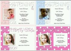 A few of our personalised invite designs x