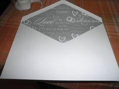 how to DIY line envelopes