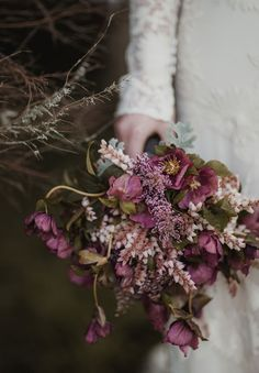 Rustic purple bouquet