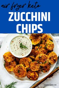 Looking for a healthy snack recipe that you will make again and again. This is it! These air fryer Keto Zucchini Chips are not only easy to make, but they are delicious! Feel good about serving this snack to your family. PINNING! #wendypolisi #zucchinichips #zucchinirecipe #zucchinirecipes #lowcarb #lowcarbrecipes #airfryer #airfryerrecipes Vegetarian Snacks, Healthy Snacks, Keto Snacks, Low Sugar Recipes, Easy Recipes, Keto Recipes, Dinner Recipes, Appetizer Recipes, Snack Recipes