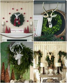 luxury ideas fake deer. I was wishing to find a cute little deer head hang in my dining room Holiday Deer Head  Stag Christmas Decor White