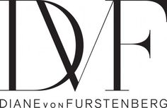 dvf logo - simple, and classic- this style logo works really well when done with clean photographs, and also with artwork- mixed media . love a simple recognizable monogram aside from the brand name Wordmark Logo Typo, Logo Branding, Branding Design, Logo Design, Typography, Font Logo, Brand Identity, Luxury Branding, Graphic Design