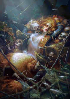Siren, Anna Verhoog on ArtStation at https://www.artstation.com/artwork/siren-d0717f8b-d2d3-40b2-8ce8-d2449d7b59da
