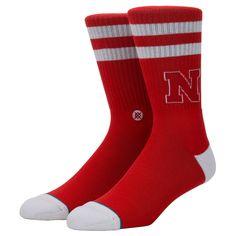 3fe9aab93721 NEW 2018 STANCE NCAA SOCKS NEBRASKA LOGO RED MEDIUM  fashion  clothing   shoes  accessories  mensclothing  socks  ad (ebay link)