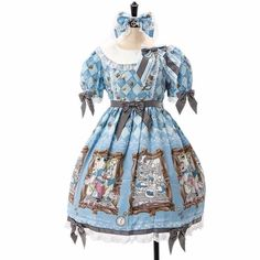 New Japan Disney Store Limited Ed. BTSSB Blue Alice in Wonderland Picture Dress #JapanDisneyStoreBTSSB
