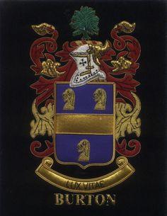 Lux Vitae - Burton Coat of arms - Lux Vitae Burton Family Crest Badges
