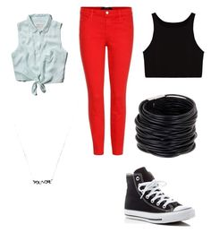 """""""Untitled #102"""" by minionlover13 ❤ liked on Polyvore featuring J Brand, Abercrombie & Fitch, Converse and Saachi"""