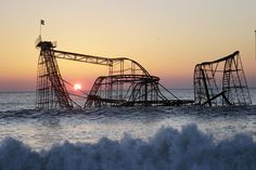 Roller Coaster That Sandy Dumped Into the Ocean