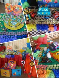 Decoração festa brinquedos, carros, transporte.Toys party.