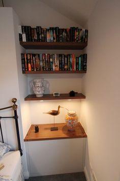 Ideas for shelves Alcove, Bookcase, Shelves, Ideas, Home Decor, Shelving, Decoration Home, Room Decor, Bookcases