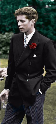 the Young John F. Kennedy Colorized by Pearse