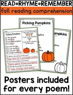 Free candy corn reading activities are the perfect way to kickstart fall in your classroom! Fall reading passages first grade reading comprehension kindergarten. fall poems for kids fall classroom posters teaching reading ideas First Grade Reading Comprehension, 2nd Grade Reading, Kindergarten Reading, Reading Fluency, Comprehension Posters, Kindergarten Worksheets, Kindergarten Themes, Phonics Activities, Reading Activities