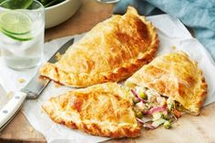 Change up your week and try these golden fish and prawns pasties infused with lemon, thyme and parsley.