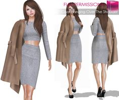 Second Life Marketplace - Meli Imako Full Perm Mesh Coat Hanging Over The… 97ee652a1
