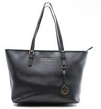 Michael Kors Black Saffiano Jet Set Travel Zip EW Tote Bag Purse $278- #007