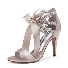 Women's Satin Spring / Spring & Summer Sweet / British Wedding Shoes Stiletto He. Lace Up High Heels, Bow Heels, Womens High Heels, Stiletto Heels, Glitter Wedding Shoes, Wedding Heels, Purple Wedding Shoes, Satin Rouge, Wedding Shoes Online