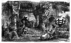 Visual Development from The Black Cauldron by Mel Shaw