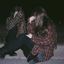 grunge aesthetic black dark emo goth  flannel girl
