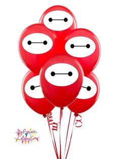 BIG HERO 6 inspired Baymax for balloons - Birthdays - Party Favors