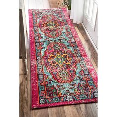 Willa Arlo Interiors Aliyah Oriental Pink Area Rug Rug Size: Runner x Carpet Runner, Rug Runner, Entryway Rug, Pink Rug, Online Home Decor Stores, Online Shopping, Persian Rug, Turkish Rugs, Newcastle