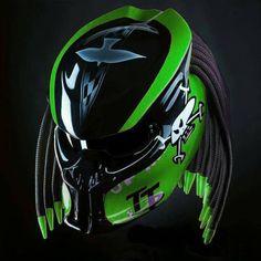 Helmet predator street fighter isle of man Green motif for motorcycle Predator Helmet, Predator Alien, Custom Helmets, Black Fire, Green Dot, Visors, Motorcycle Helmets, Street Fighter, Etsy