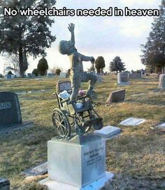 """""""No wheelchairs needed…"""" Imagine the joy of no limitations! Beautiful memorial for; 1999 - Salt Lake City -Cemetery in Salt Lake City, UT, USA -This is my cousins memorial :) Salt Lake City Cemetery, Disability Quotes, Rett Syndrome, Cerebral Palsy, Heaven Sent, Grave Memorials, Special Needs, Make Me Smile, Decir No"""