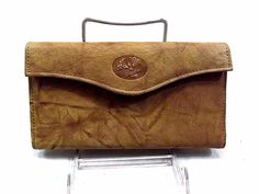 Buxton Women's Trifold Checkbook Wallet Large Clutch Brown Leather NWOT