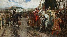 Cuadro de la rendición de Granada en la serie Isable
