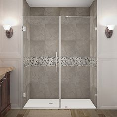Aston Nautis 64 x 72-inch Completely Frameless Hinged Shower Door | Overstock.com Shopping - The Best Deals on Shower Doors