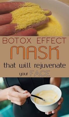 Botox Effect Mask that will Rejuvenate your Face #face #mask #beauty #botox