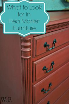 How to find great Flea Market Furniture - Tips and Tricks by Laura of Whimsical Perspective
