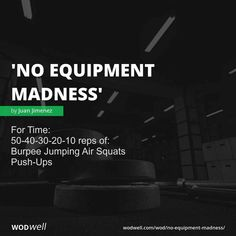 For Time: reps of:; Push-Ups Air Squats, Burpees, Crossfit Inspiration, Fitness Inspiration, Amrap Workout, Hiit, Cardio, Crossfit Workouts At Home, Kettlebell Swings
