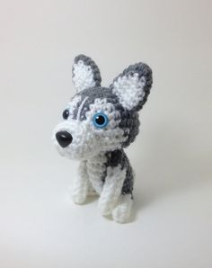 #pet #kids #toy #crochet #husky #stuffed #animal #dog