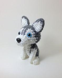 #pet #kids #toy #crochet #husky #stuffed #animal #dog