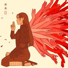 "是生滅法 ""zeshoumeppou- The law of arising and... - Eva Draws. Hashirama"