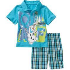 Disney Frozen Baby Toddler Boy Tee and Shorts Outfit Set
